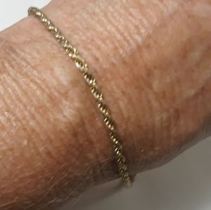Sterling Gold Wash Italian Bracelet